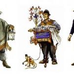 Personajes típicos de la época (25 de mayo de 1810)