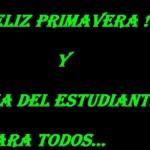21 de septiembre Día del Estudiante y día de la Primavera en Argentina