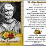 19 de diciembre San Anastasio