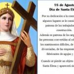 18 de agosto Día de Santa Elena – Santa Patrona de los trabajadores de la construcción