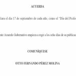 17 de septiembre Día del Profesional Humanista Educador en Guatemala