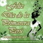 Feliz día de la Primavera!!!  23 de septiembre en Peru