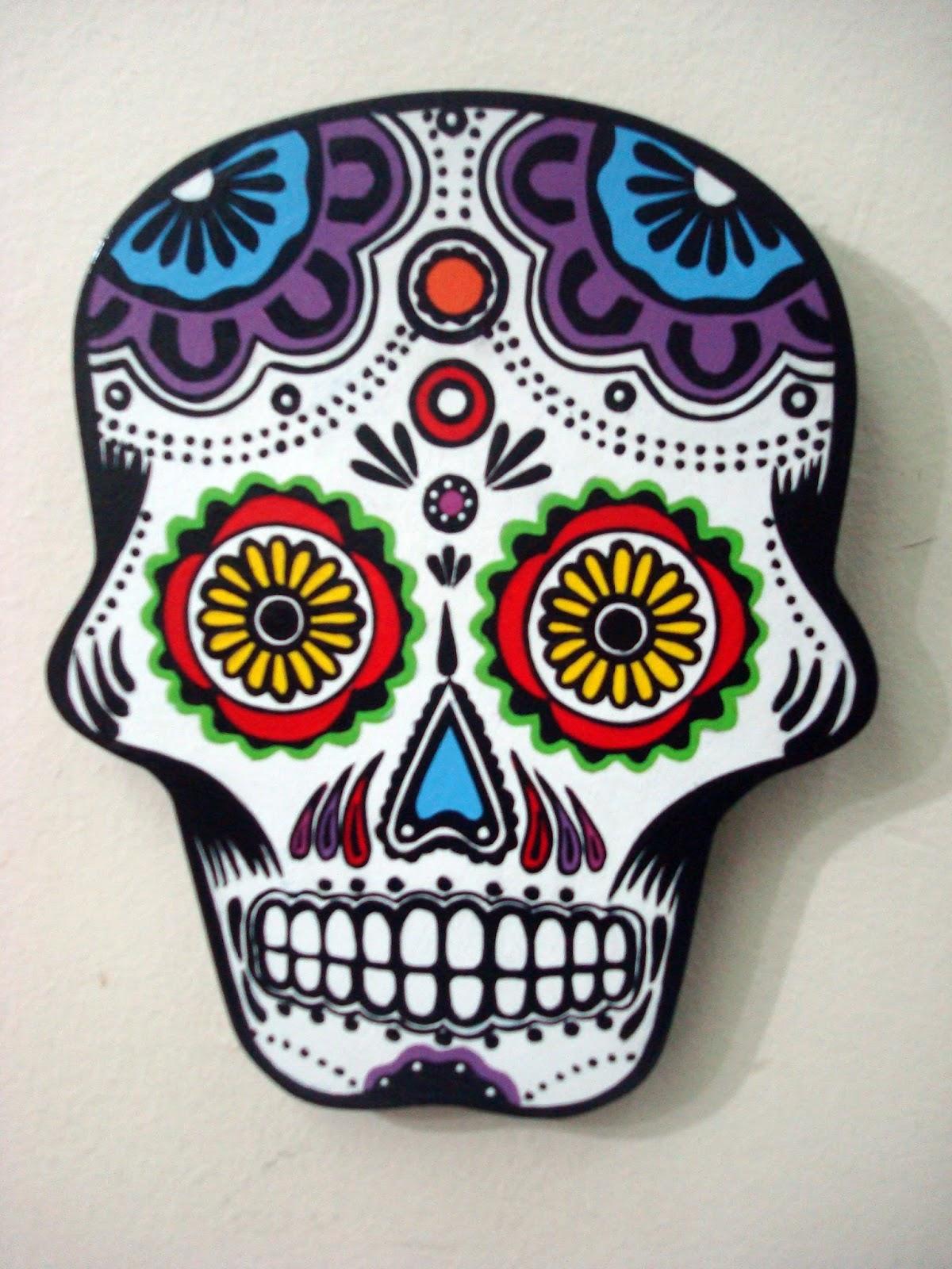 Calaveras mexicanas efem rides en im genes - Como decorar un dibujo ...