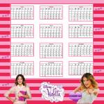 2015: Calendario de Violetta