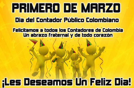 Feliz Día del Contador - 1 de Marzo - Colombia