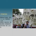 24 de marzo: Día Internacional del Derecho a la Verdad en relación con Violaciones Graves de los Derechos Humanos y de la Dignidad de las Víctimas