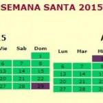 Feriados pascuas 2015