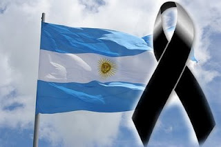 malvinasBANDERA ARGENTINA (Luto)
