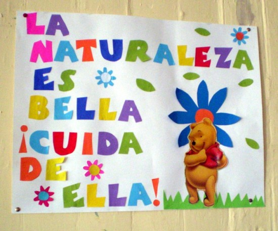 Pancartas sobre la conservación del Medio Ambiente