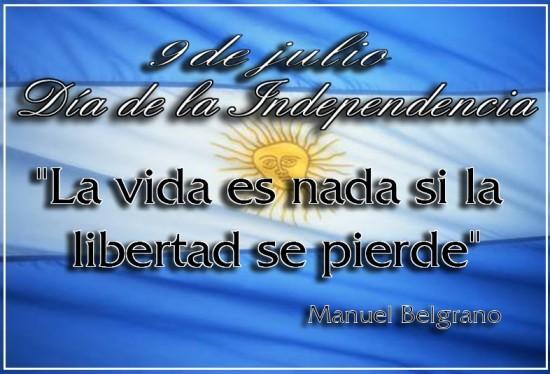 El 9 de julio se celebra en la Argentina el Día de la Independencia .