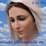 """""""Dia de la Inmaculada Concepción de María"""" se celebra el 8 de diciembre"""