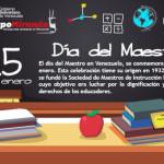 """15 de enero se celebra en Venezuela el """"Dia del Maestro"""""""