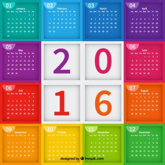 Calendarios 2016 para descargary guardar: Imágenes de Almanaques 2016