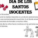 """28 de diciembre es el """"Dia de los Santos Inocentes"""""""