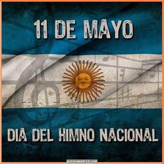 Tarjetas del Dia del Himno Nacional Argentino se celebra todos los 11