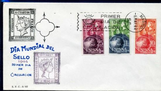 1964 dia sello sobre