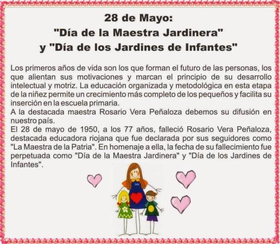 28 de Mayo Dia de los Jardines de Infantes: interesanes tarjetas para