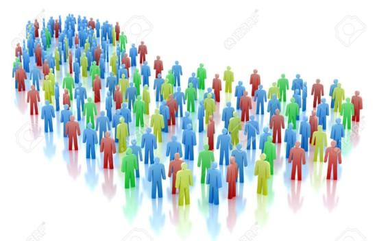 10833315-Concepto-de-multitud-de-colores-las-personas-aisladas-en-blanco-Foto-de-archivo