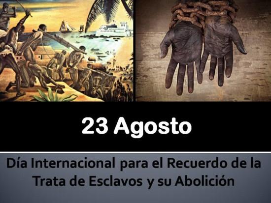 Dia internacional de recuerdo trata de esclavos y su abolicion