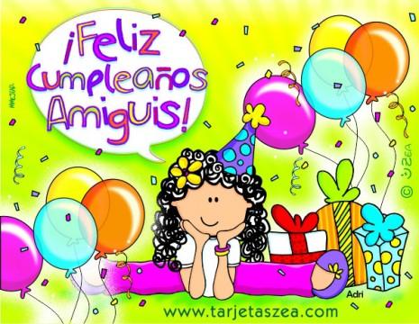 feliz cumpleaños a mi amiga