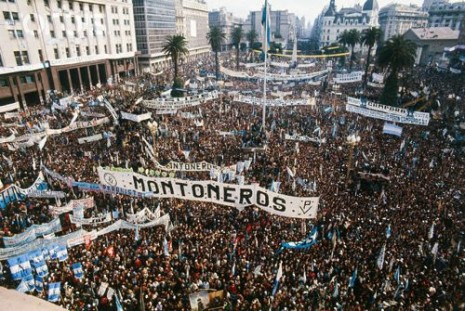 Supporters of Hector Campora