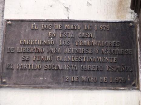 PSOE._Placa_conmemorativa_fundación