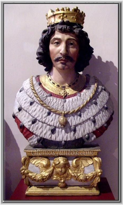 14-San Vicente Madelgario-busto relicario en Soignies-14