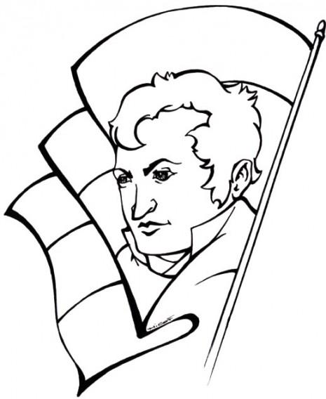 banderasdibujos-de-manuel-belgrano-para-colorear-belgrano-bandera