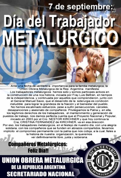 AVISO DIA METAL SECRETARIADO 2012