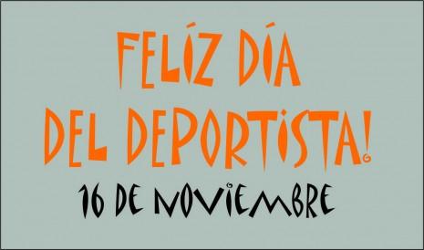 Feliz Dia del Deportista