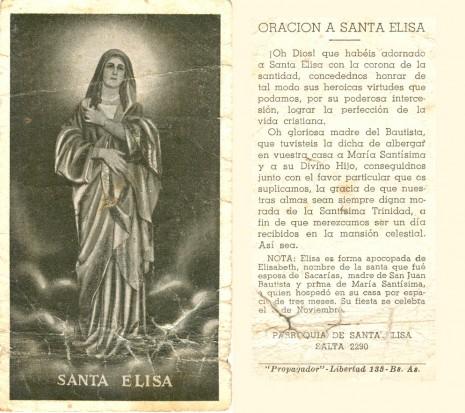 Santa Elisa 18 de nov