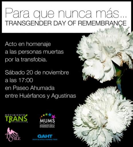 dia internacional de la memoria transenxual