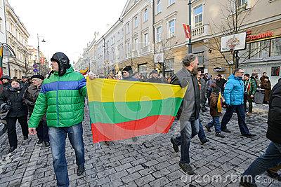 día-de-la-independencia-vilna-lituania-11 de marzo