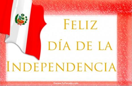 tarjetas-postales-tarjeta-independencia-de-peru-- 28 de julio
