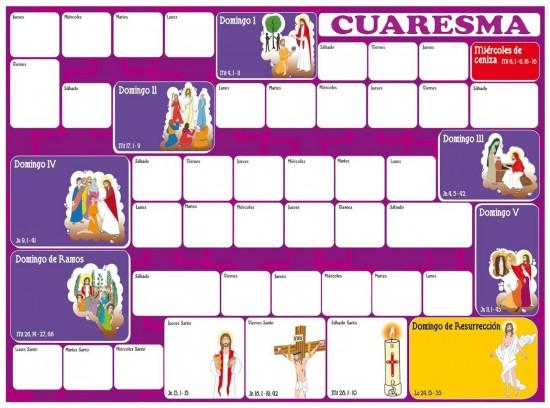 cuaresma calendario