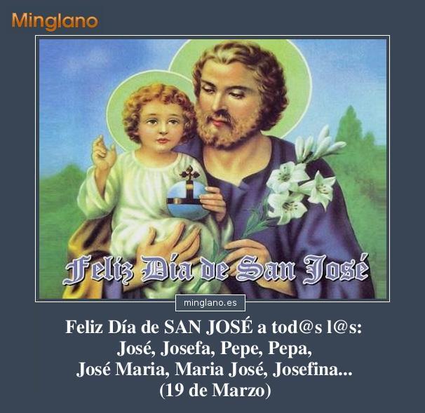 Felicitaciones para el día de san José
