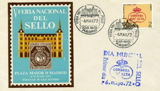 1972 dia sello sobre