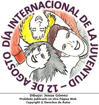 Dibujo por el Dia Internacional de la Juventud o Dia de la Juventud. Dibujo hecho por Jesus Gomez
