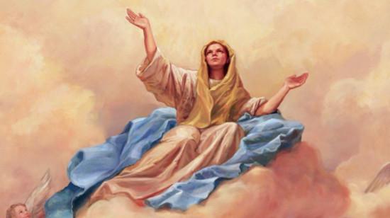 frases y mensajes por el dia de asunción de la Virgen María al Cielo